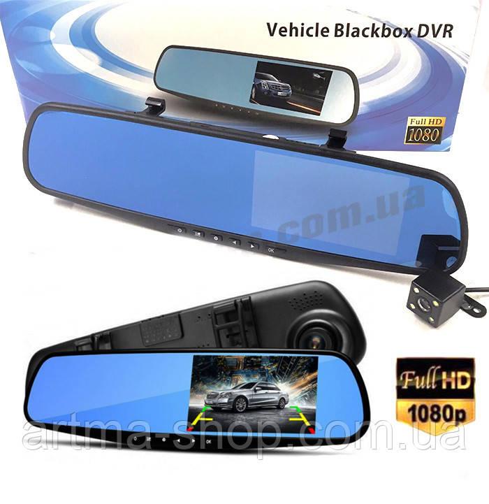 Зеркало видеорегистратор  Blackbox DVR с камерой заднего вида Full HD