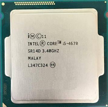 Процессор Intel Core i5-4670 3.40GHz/6M/5GT/s (SR14D) s1150, tray