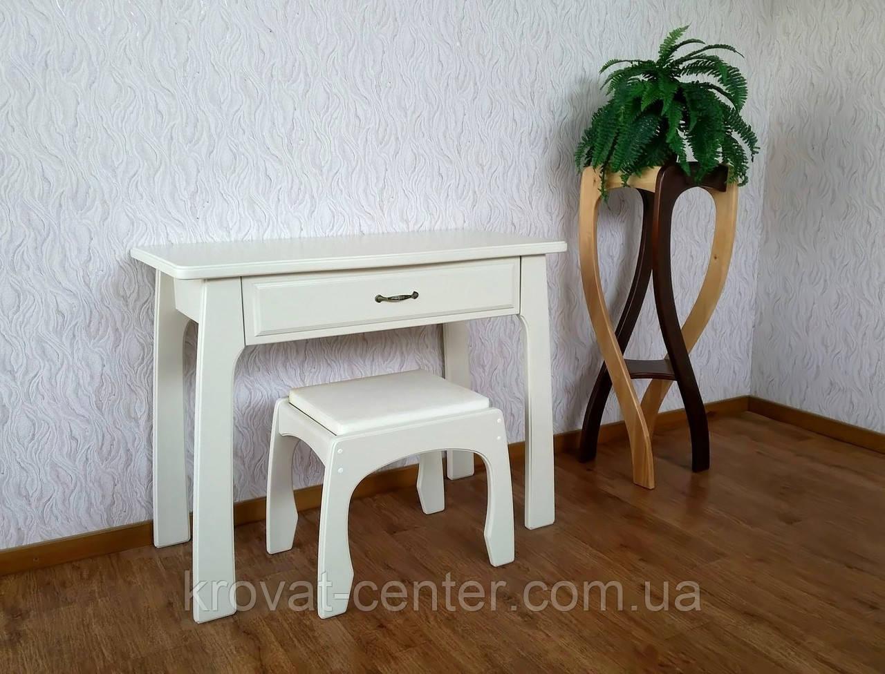 """Белый туалетный столик с пуфиком """"Для королевы"""""""