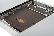 Стол МДФ+стекло ТМL-521 Белый+венге, фото 2