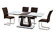 Стол МДФ+стекло ТМL-521 Белый+венге, фото 6