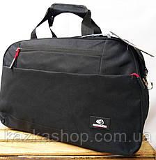 Дорожная сумка хорошего качества, среднего размера 46х28х20 см, плотный материал, ножки на дне сумки, фото 3