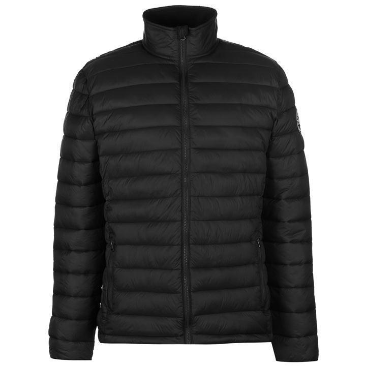 Мужская стеганая куртка SoulCal Micro Bubble черная оригинал (J0101)