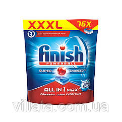 Finish All in One Max 80 tabs Финиш таблетки для посудомоечной машины Все в одном Finish All in 1