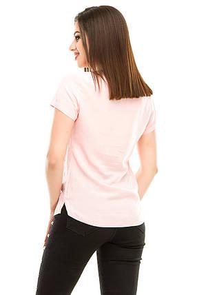 Блузка 299 розовая, фото 2