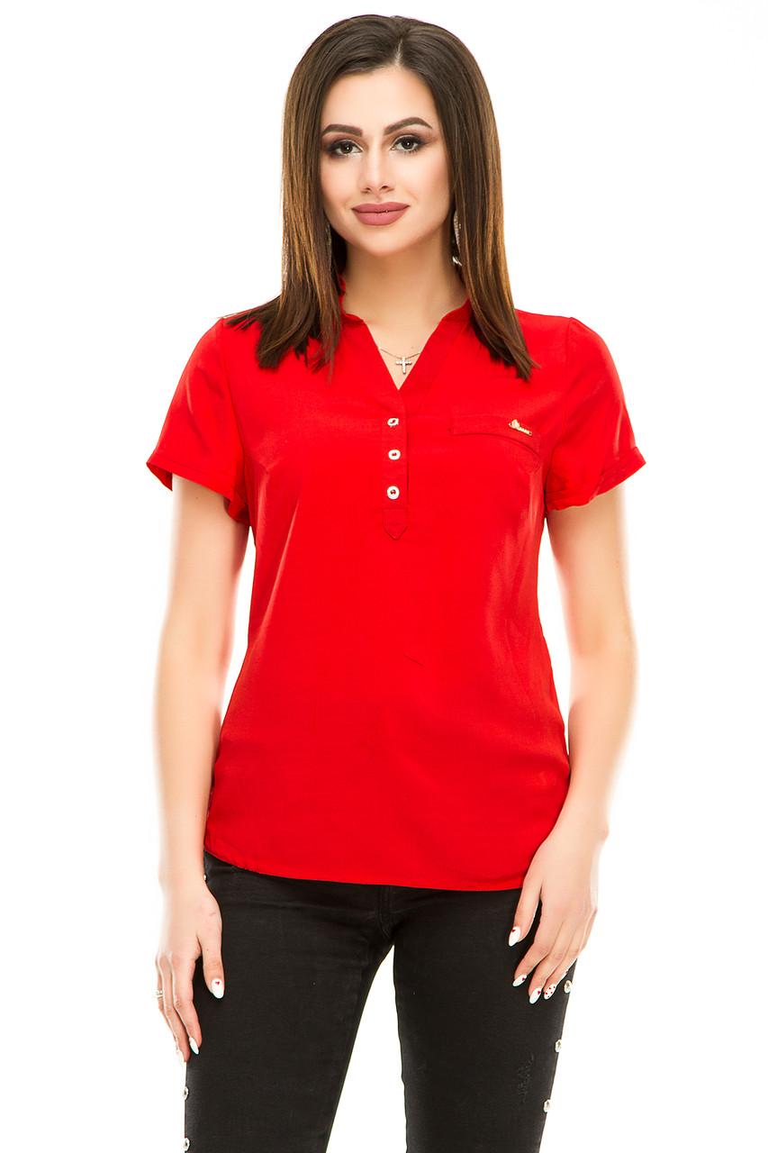 Блузка 299 красная