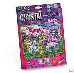 """Алмазная живопись для детей """"CRYSTAL MOSAIC KIDS"""", """"Единорог"""""""