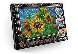 "Алмазная живопись ""DIAMOND MOSAIC"", ""Подсолнух"""
