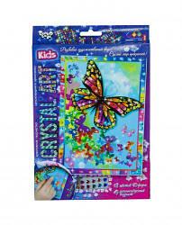 """Алмазная живопись для детей """"CRYSTAL ART KIDS: Бабочка"""""""