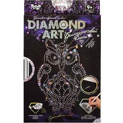 """Алмазная живопись для детей и взрослых """"DIAMOND ART"""", """"Сова"""", DAR-01-02"""