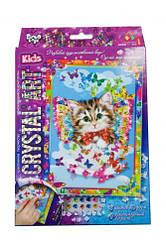 """Алмазная живопись для детей """"CRYSTAL ART KIDS: Котенок"""" CArt-01-04"""