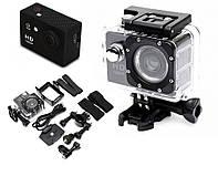 Экшн камера Full HD 1080P GoPro водонепроницаемая + набор креплений Black