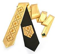 """Атласный галстук с вышивкой """"Злотан"""""""