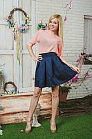 Костюм женский летний с юбкой персик, фото 1