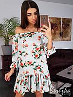 Лёгкое платье с рюшами  разные расцветки, фото 1