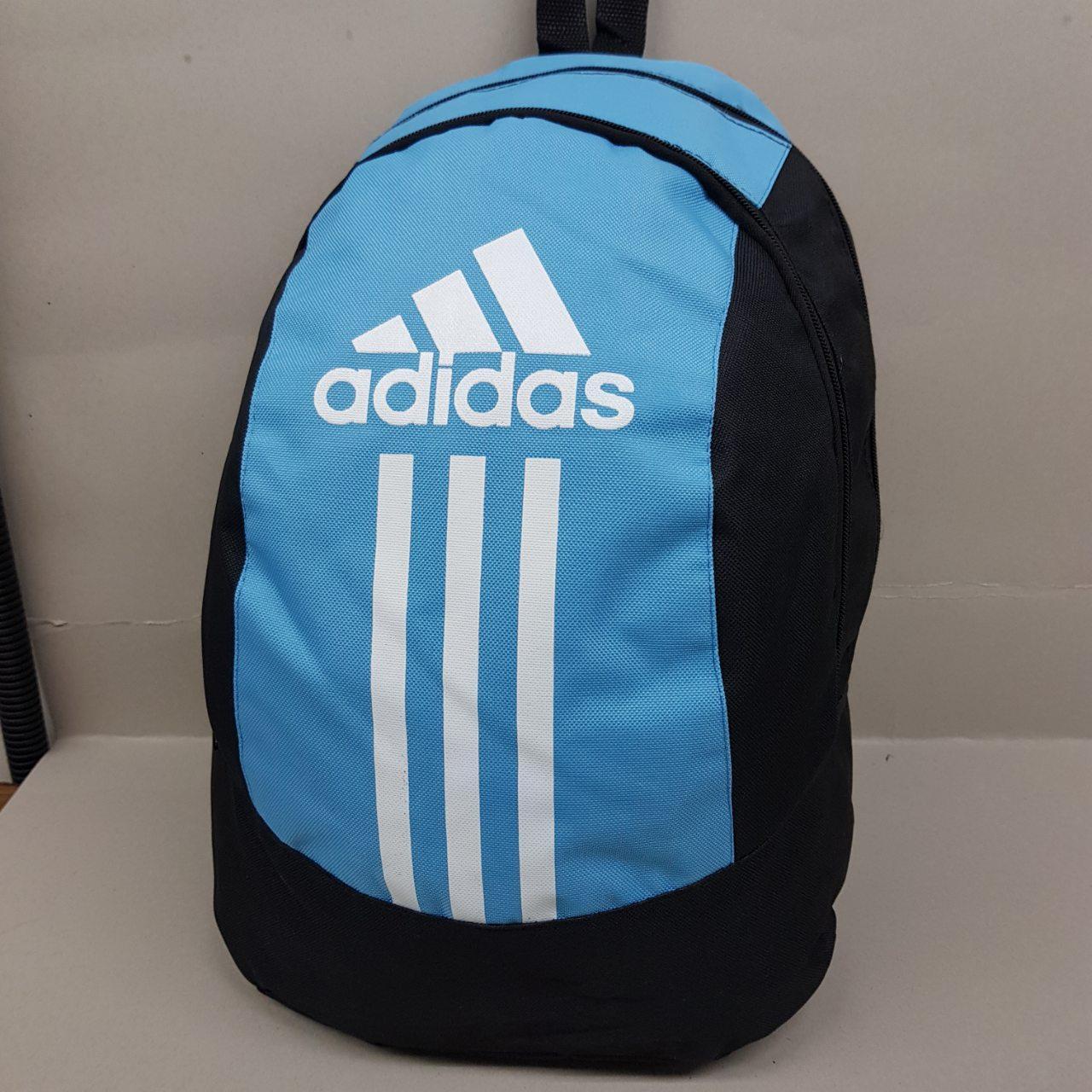Спортивный рюкзак Adidas (Адидас), черно-голубой цвет ( код: IBR073BL )