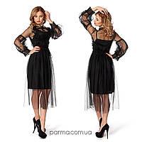 f4c7711b29e Коктейльное вечернее платье (р.42-44) микродайвинг черный