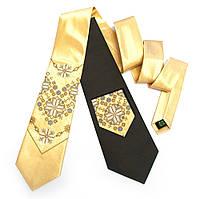 """Атласный галстук с вышивкой """"Златомир"""""""