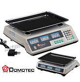 Торговые весы Domotec MS-228+ до 50кг (Счетчик цены)