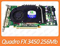 Видеокарта NVIDIA Quadro FX 3450 256Mb PCI-Ex DDR3 256bit (2 x DVI + sVideo)