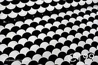 Ткань сатин Чешуйки черные