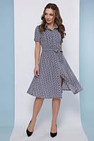 Модное летнее платье рубашка на пуговицах с коротким рукавом