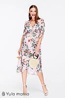 Платье для беременных и кормящих SHARLEN DR-29.092, розовое с принтом, фото 1
