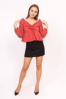 Блузка с открытими плечиками LUREX - красный цвет, S (есть размеры), фото 1