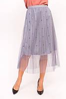 Фатиновая юбка с блестками LUREX - серый цвет, S (есть размеры), фото 1