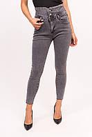 Женские джинсы с высокой талией Yuanse - серый цвет, S (есть размеры), фото 1