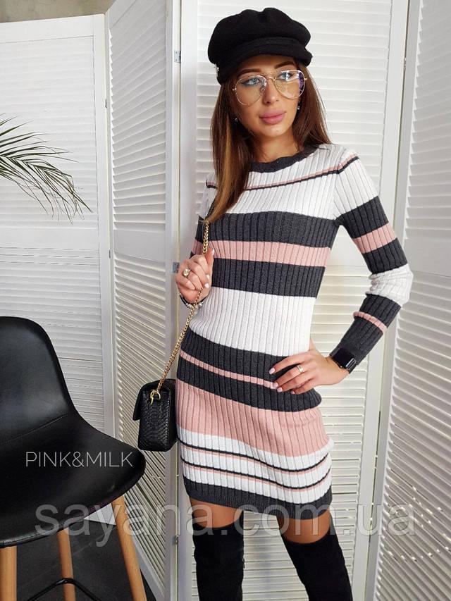 женское вязаное платье