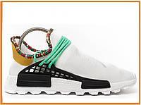 34fe5b106fc353 Мужские кроссовки Adidas × Pharrell Williams NMD Human Race White (адидас  нмд хьюман рейс, белые)