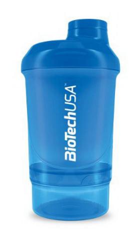 Шейкер BioTech Shaker Wave+ Nano 2 in 1 - Schocking Blue 300 ml
