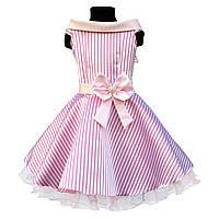"""Нарядное пышное платье в ретро стиле в горох для девочки """"Стиляги""""."""