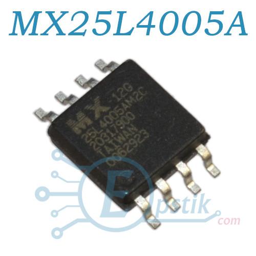 MX25L4005AM2C-12G, микросхема памяти 4 MBit SPI Flash, SOP8 (200mil)