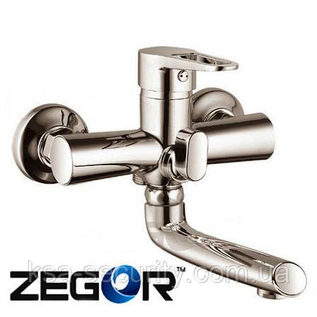 Смеситель для ванны ZEGOR PUD3-A045 Никель (Зегор), фото 2