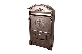Поштова скринька Vita - герб України (коричневий)