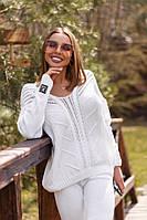 Женский белый хлопковый костюм