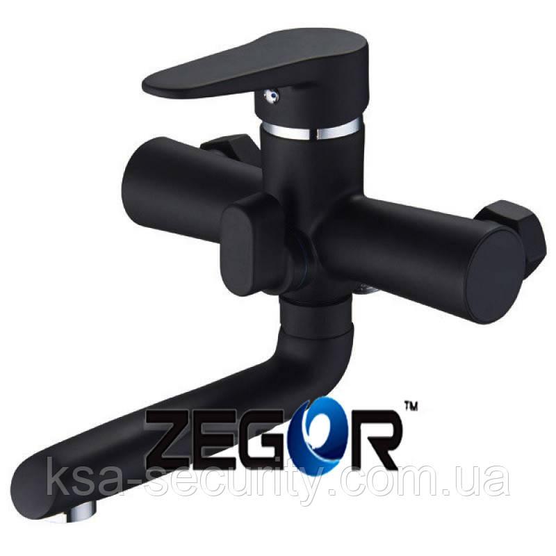 Смеситель для ванны ZEGOR PUD3-A045 Черный (Зегор)