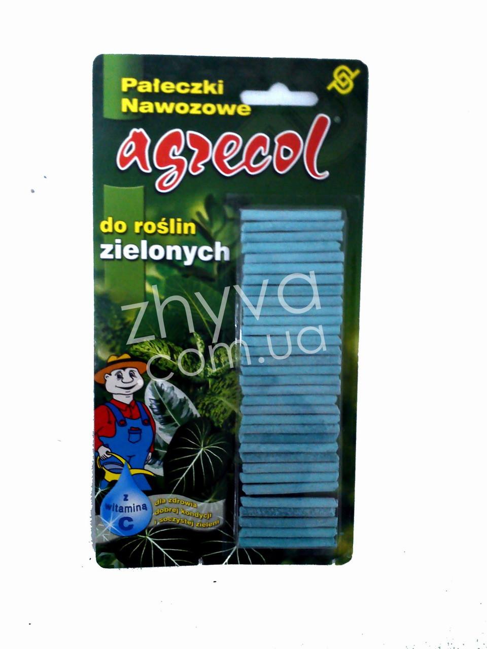 Agrecol Добриво для зелених рослин тривалої дії 32шт. / Агрекол удобрение для зеленых растений