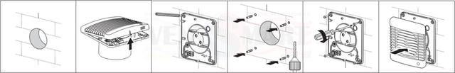 Вариант установки (монтажа) осевого настенного вытяжного вентилятора Вентс 125 М3Т непосредственно в вентиляционную шахту в ванной комнате, в санузле, на кухне или другом помещении. Вентс 125 М3 в Украине продаётся с бесплатной доставкой (или со скидкой) по оптовой цене в интернет-магазине вентиляции ventsmart.com.ua.