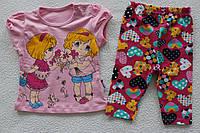 Детская одежда оптом Турция.футболка+бриджи  1,2,3 года