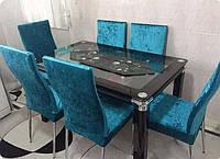 Чехлы на стулья велюровые, набор 6 шт(Турция)