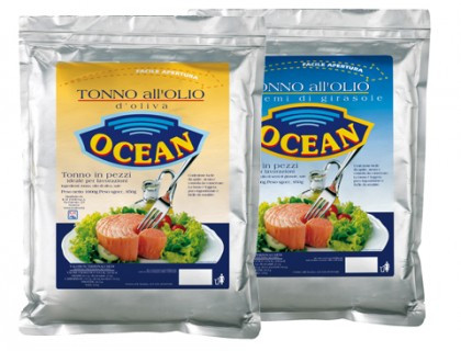 Тунец в подсолнечном масле Tonno All'olio semi di girasole Ocean 1 кг.