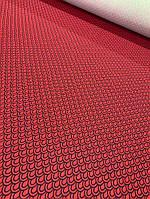 Одёжная красная ткань французский трикотаж, фото 1