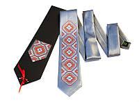 """Атласный галстук с вышивкой """"Сокол"""", фото 1"""