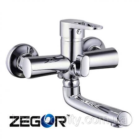 Смеситель для ванны ZEGOR PUD3-A146 (Зегор), фото 2
