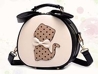 Молодежная сумочка для девочки. Черная  ДС2