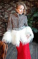 Пальто из каракуля, украшенное ламой. Модель 202201990, фото 1