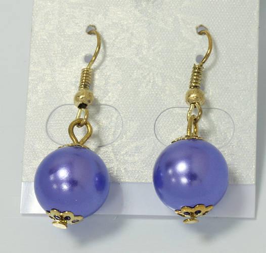 Серьги-шарики фиолетовые